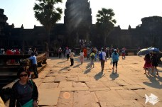Every year, about 2 million tourists visit Angkor Wat in Siem Reap, Cambodia.