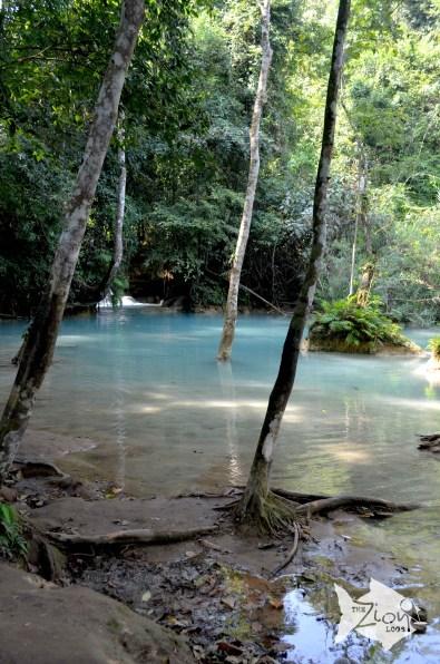 Tad Kuang Si / Kuang Si Waterfall flows year round.