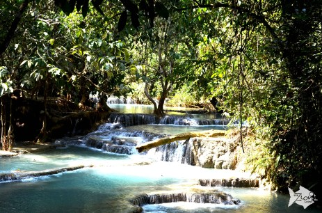 Kuang Si Waterfall is one of the main attractions of Luang Prabang.