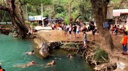 Blue Lagoon is seven kilometres from Van Vieng.