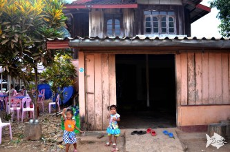 To volunteer in Vang Vieng, you can visit its two organic farms or teach English to rural kids as well