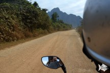 To explore the rural area in Van Vieng you can rent a semi-automatic scooter for a half day.