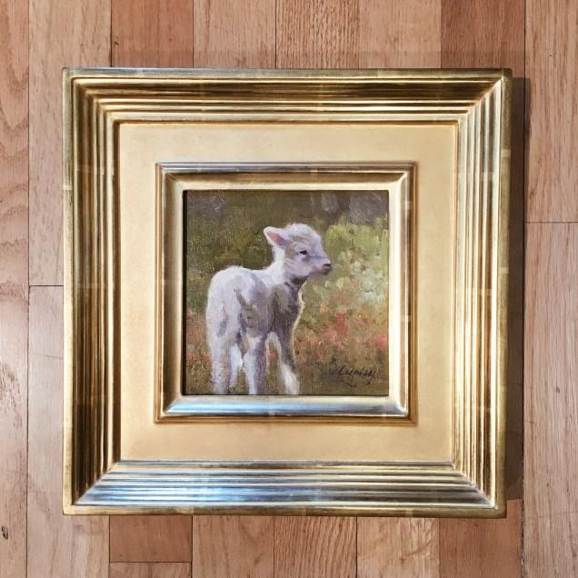 "Original ""Ready to Play"" by Linda Curley Christensen 6×6 framed ORIGINAL $436"