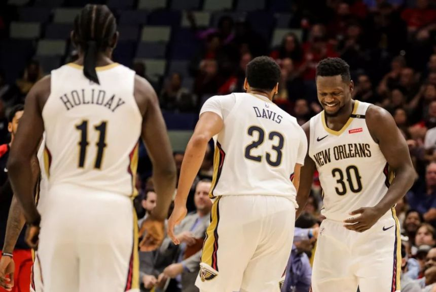zion joins holiday, randle and anthony davis on pelicans