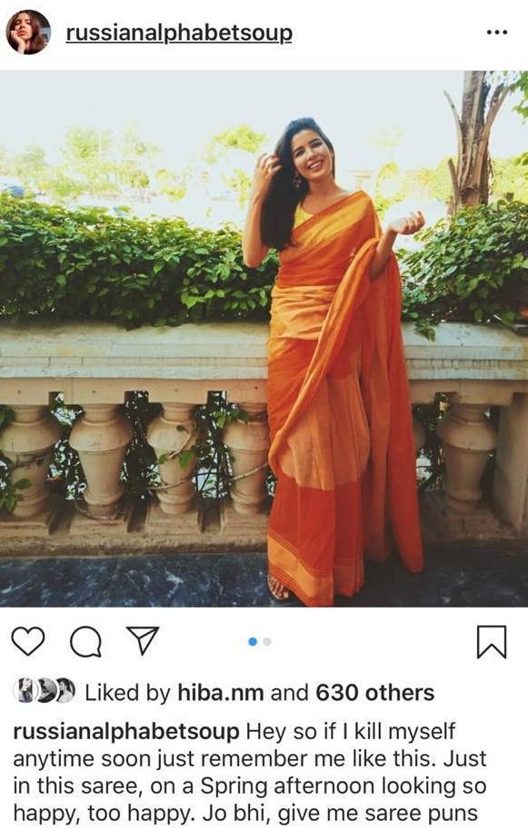 orange saree