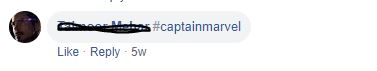 Via Facebook Captain Marvel