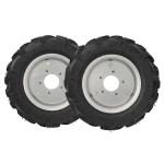 Комплект резиновых колес 4×10 в сборе