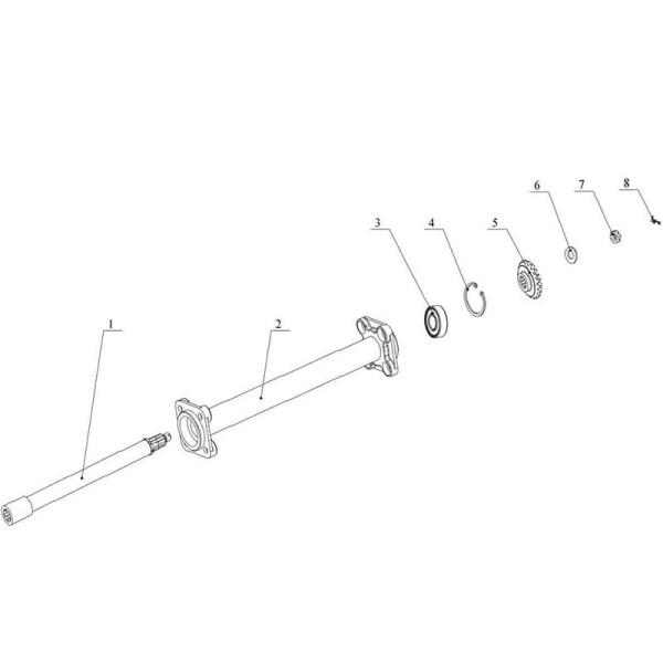 Корпус трансмиссии левой косилки Заря КР.05.320-03