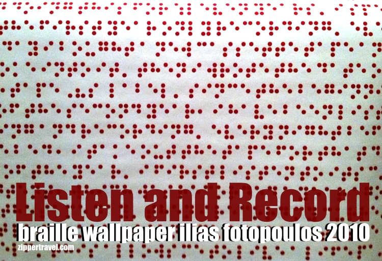 Braille wallpaper by Ilias Fotopoulos at the Cooper-Hewitt Smithsonian Design Museum in New York City