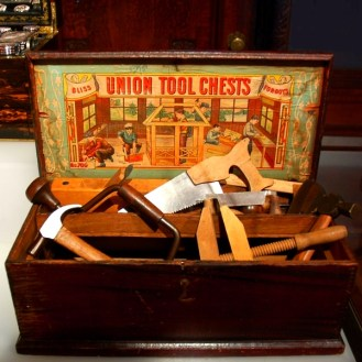 Bliss for Boys tool box at the Cooper-Hewitt Museum in New York City
