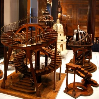 Wooden miniature stair models at the Cooper-Hewitt in NYC