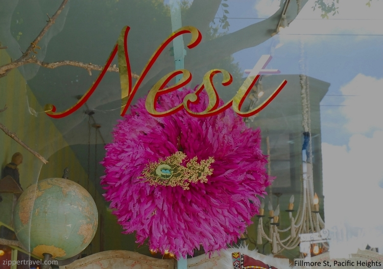 Nest store window Pacific Heights San Francisco