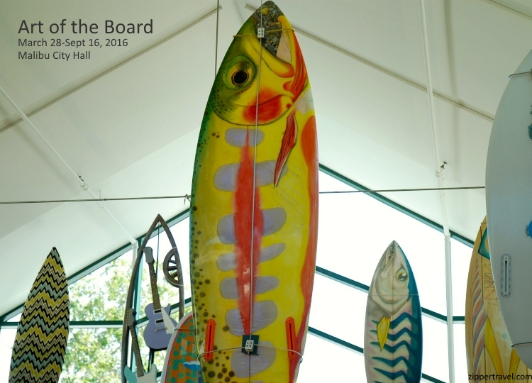 art of the board fish surfboard malibu city hall