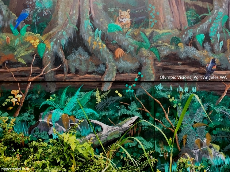 Olympic visions mural animals Port Angeles Washington