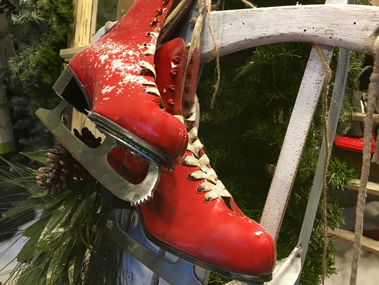 red ice skates antique store port angeles washington