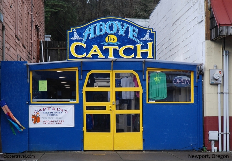 Above the catch store Newport Oregon
