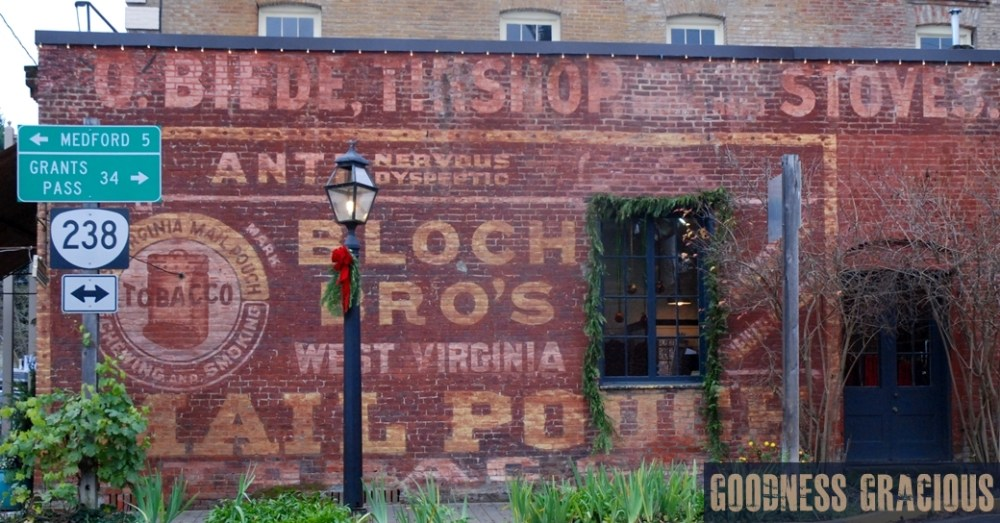 ghost sign advertisement Jacksonville Oregon