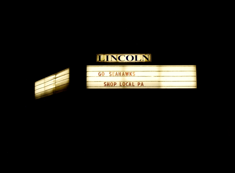 lincoln movie theater marquee night port angeles washintonf