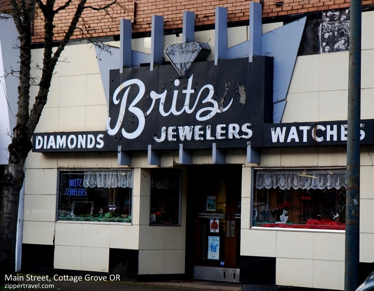 Britz jewelers exterior Cottage Grove Oregon