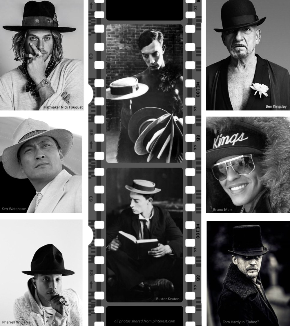 celebrities hats pinterest