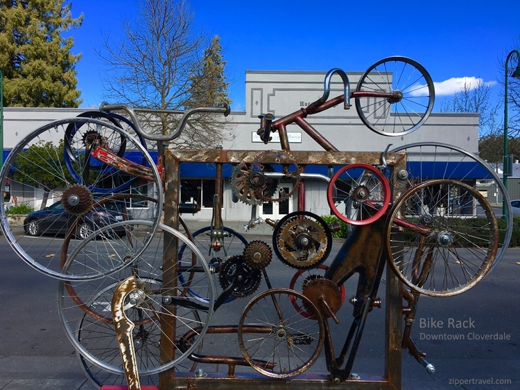 Bike rack Cloverdale California