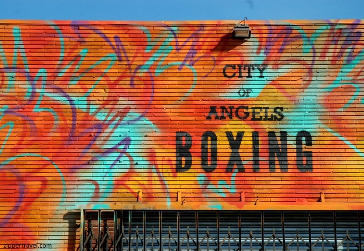 City of Angles boxing near California Science Center