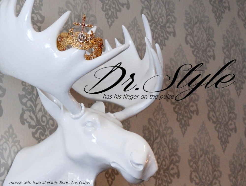 Haute Bride moose with tiara Los Gatos California