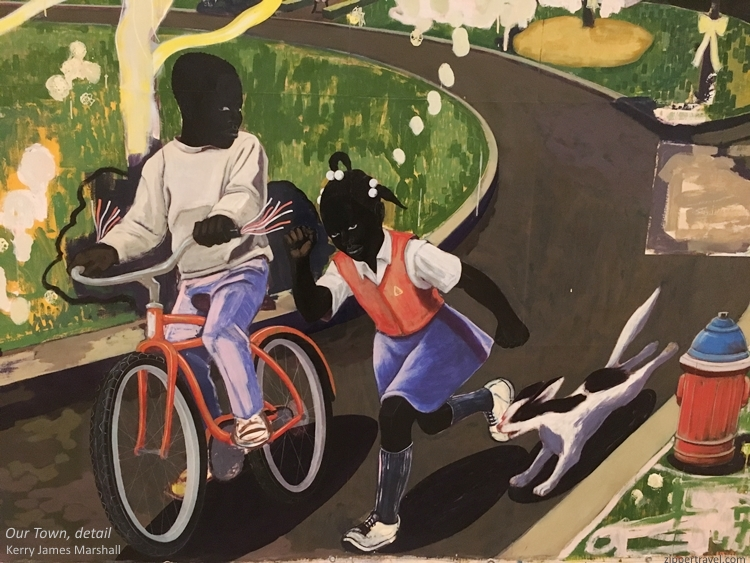 Our Town detail Kerry James Marshall MOCA Los Angeles