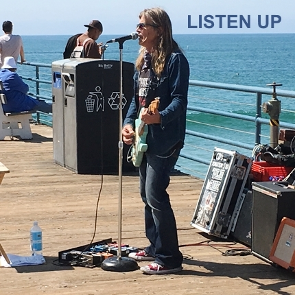 Listen Up Busker Santa Monica California pier