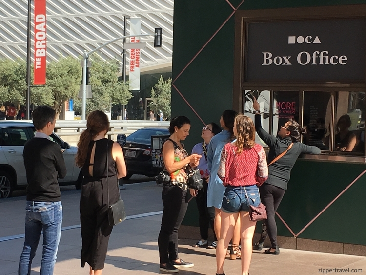 MOCA box office line Los Angeles