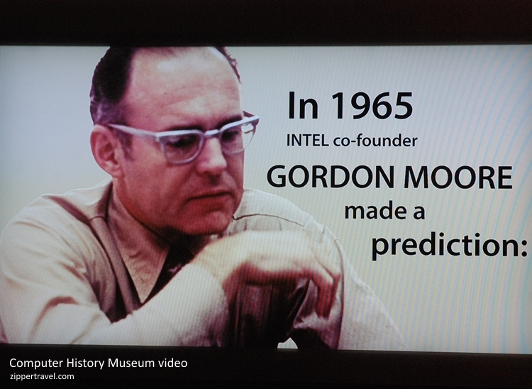 Gordon Moore video still Computer History Museum Mountain View CA