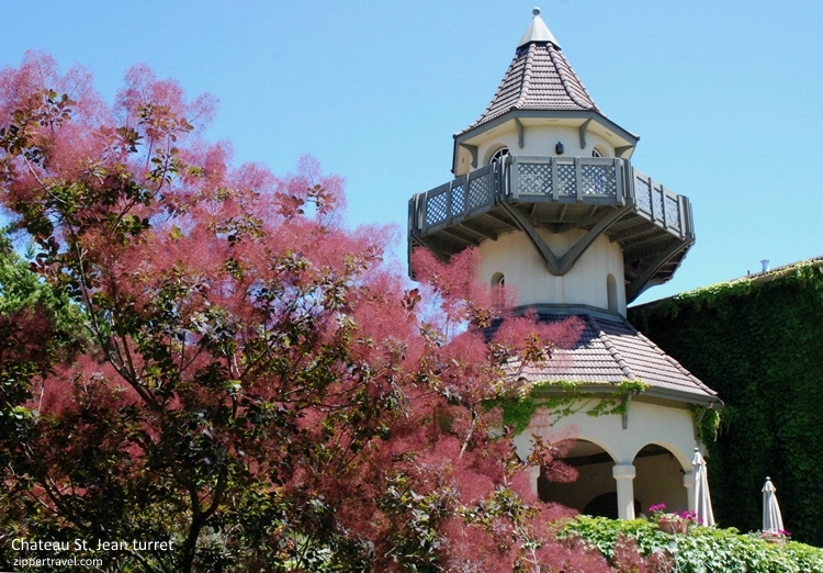 Chateau St Jean turret Valley of the Moon Sonoma CA