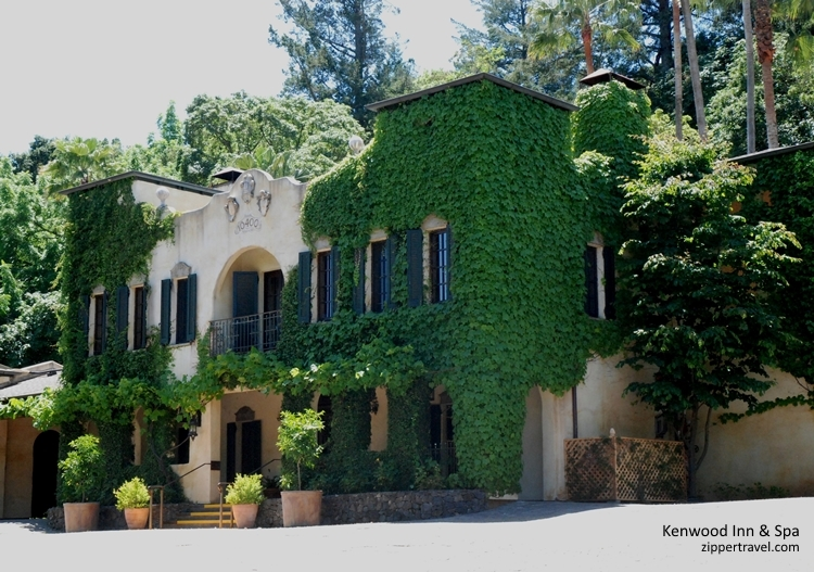 Kenwood Inn Spa entrance Valley of the Moon Sonoma CA