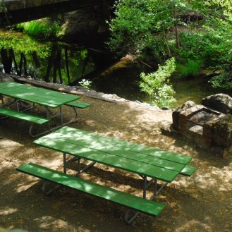 Morton's Warm Springs picnic tables Turtle Creek Sonoma's Best Pools