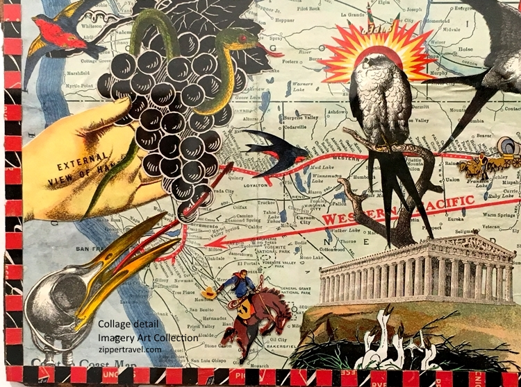 Detail Collage Artwork Imagery Estate Winery Art Collection Valley of the Moon