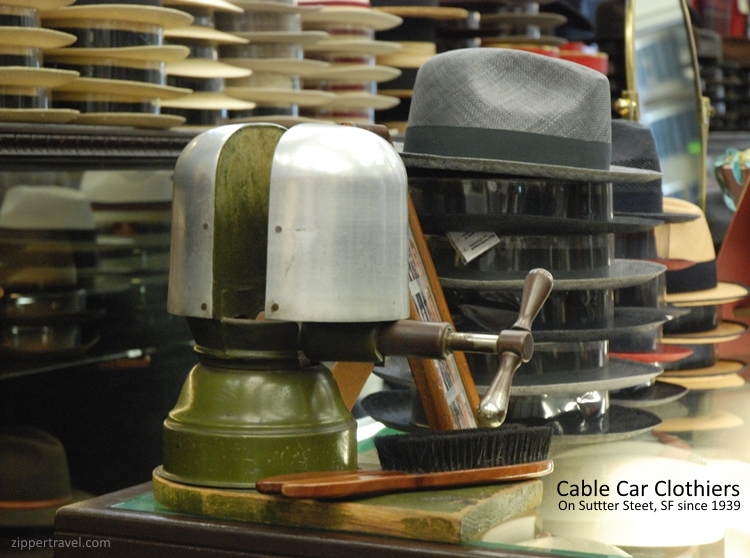 Cable Car Clothiers hat stretcher hat San Francisco