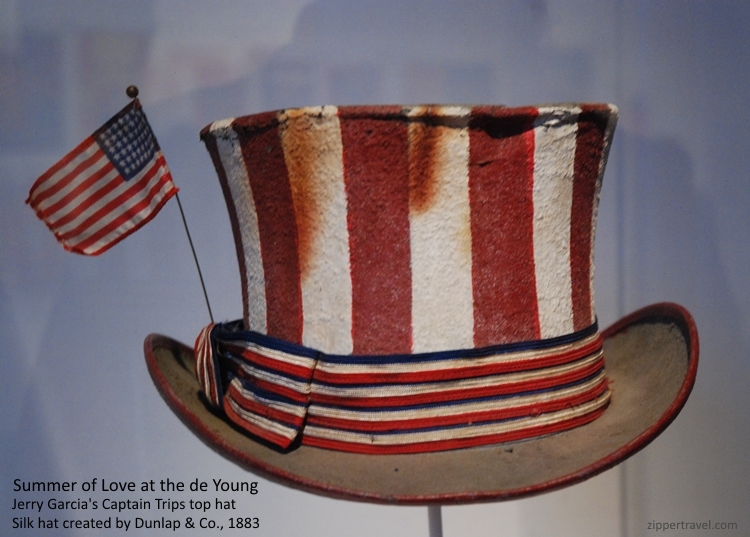 Jerry Garcia Captain Trips top hat Summer of Love Revisited deYoung Museum