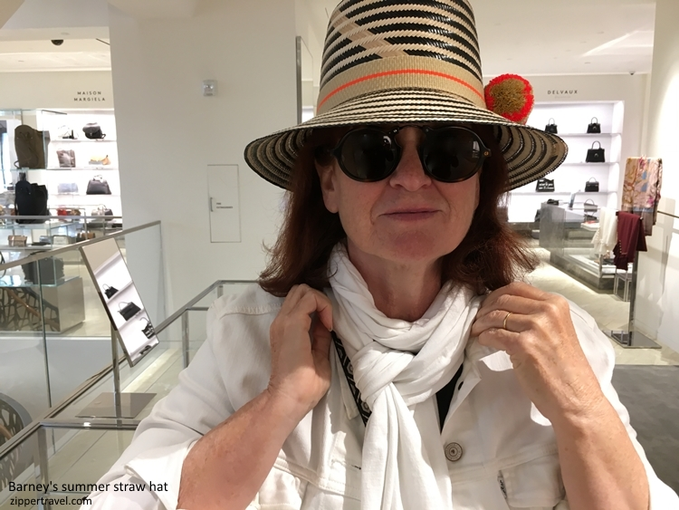 Elizabeth Cashour wearing hat Barneys hats San Francisco