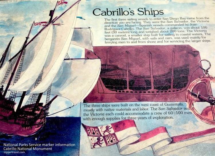 Illustration information Cabrillo's ships Cabrillo National Monument