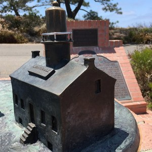 Old Point Loma Lighthouse bronze model Cabrillo National Monument