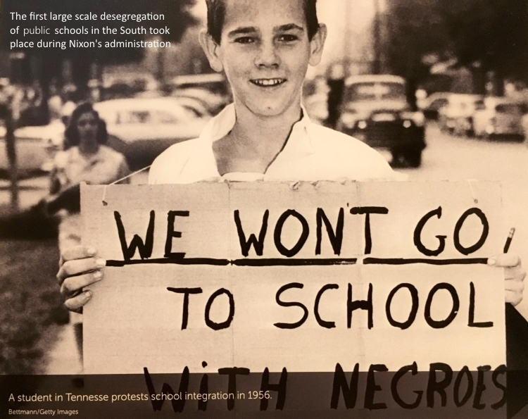 Tennessee protestor against school integration Nixon Library