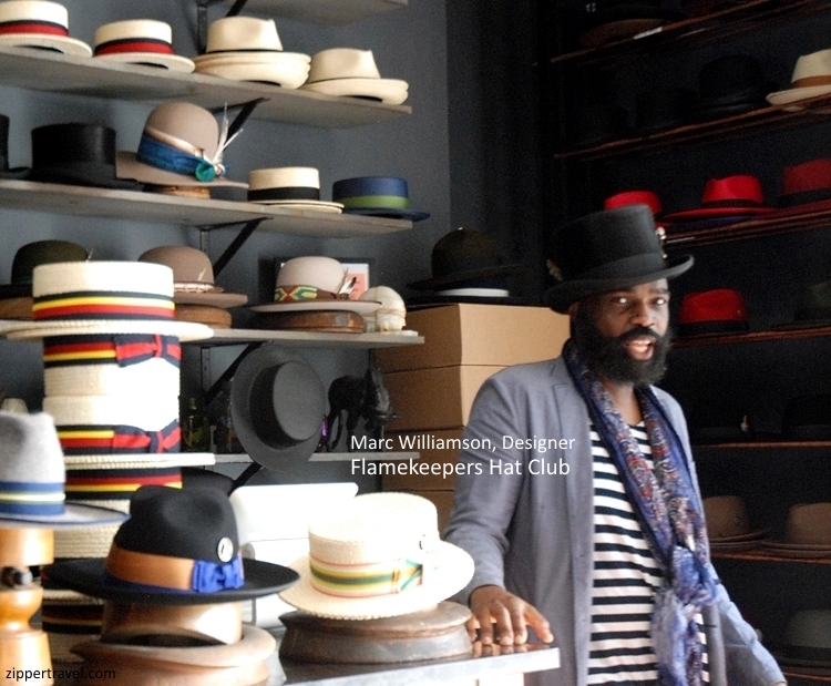 Owner Marc Williamson Flamekeepers Hat Club Harlem NYC