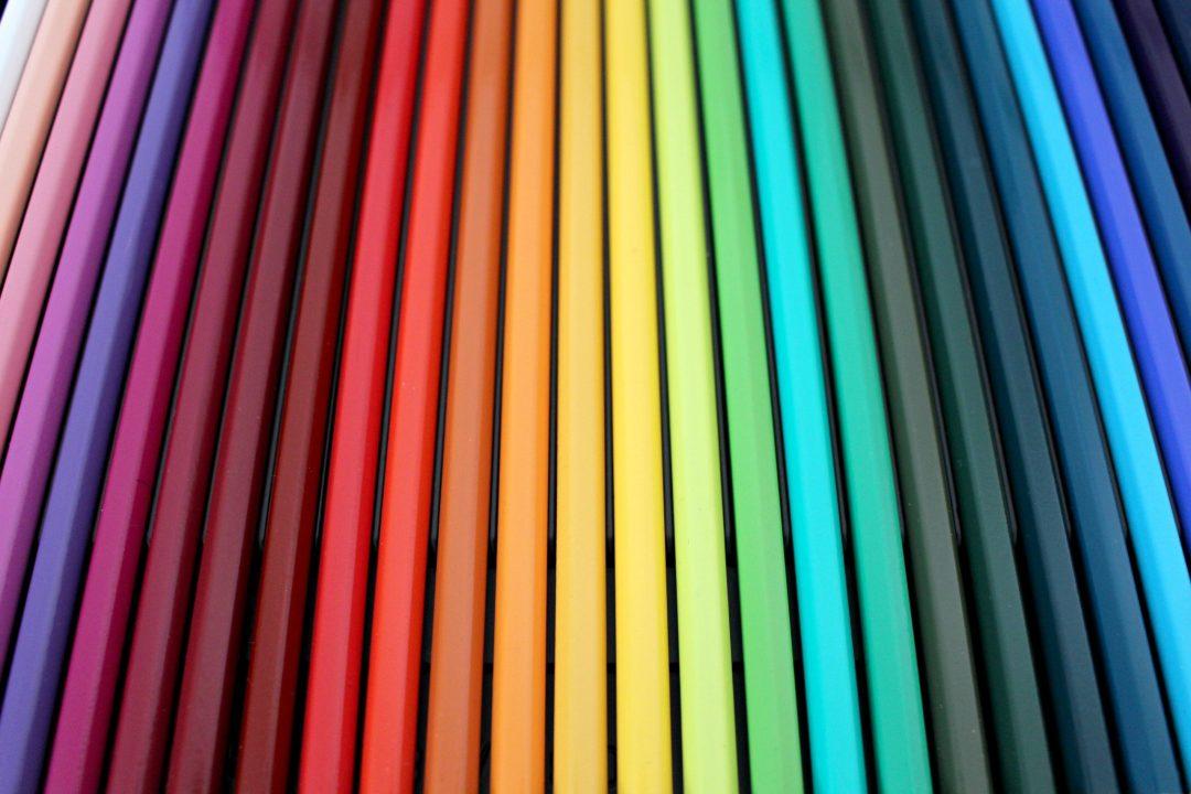 Rainbow pencils in every color