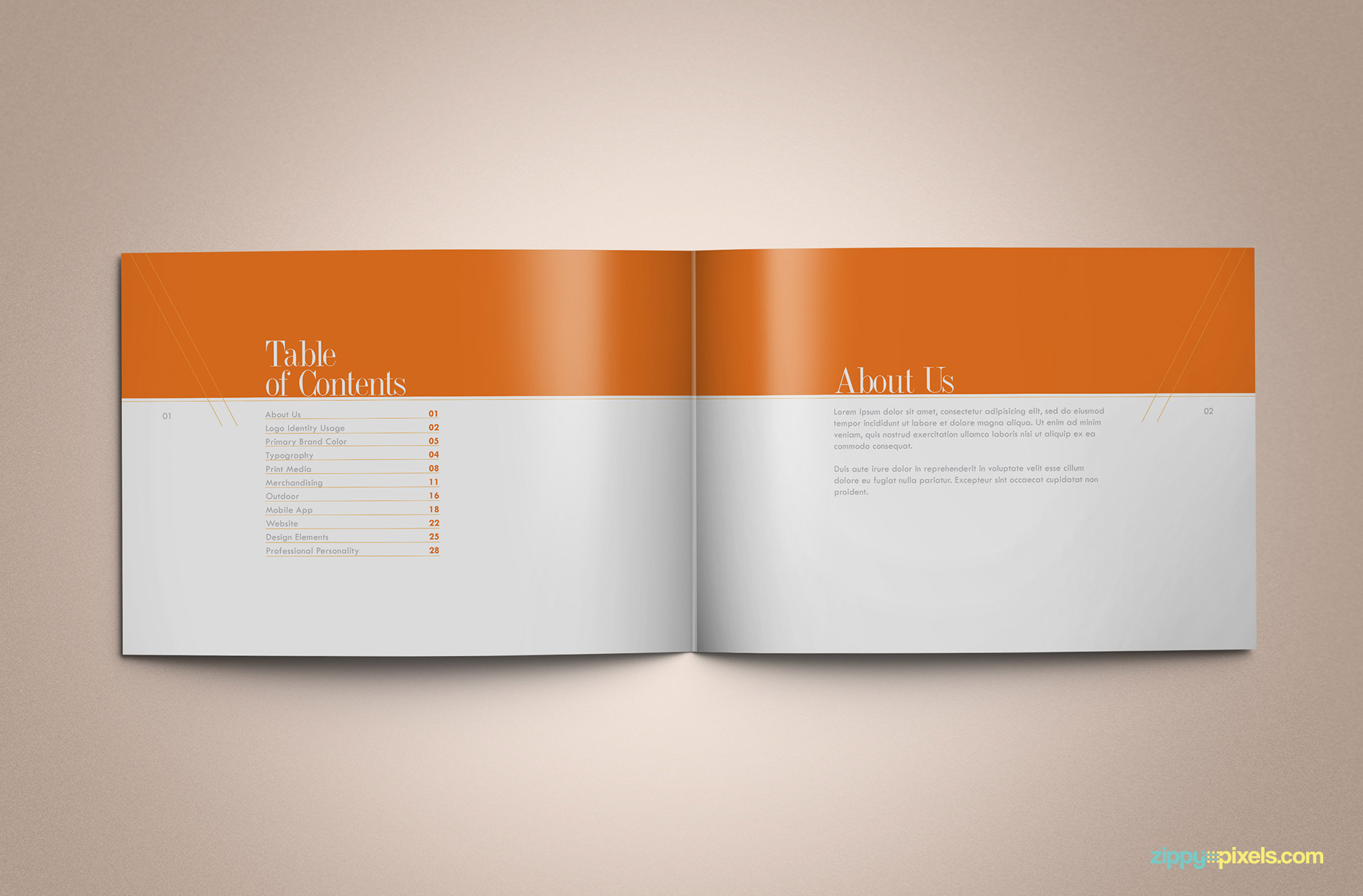 Download Professional Brand Guidelines Brandbook Template