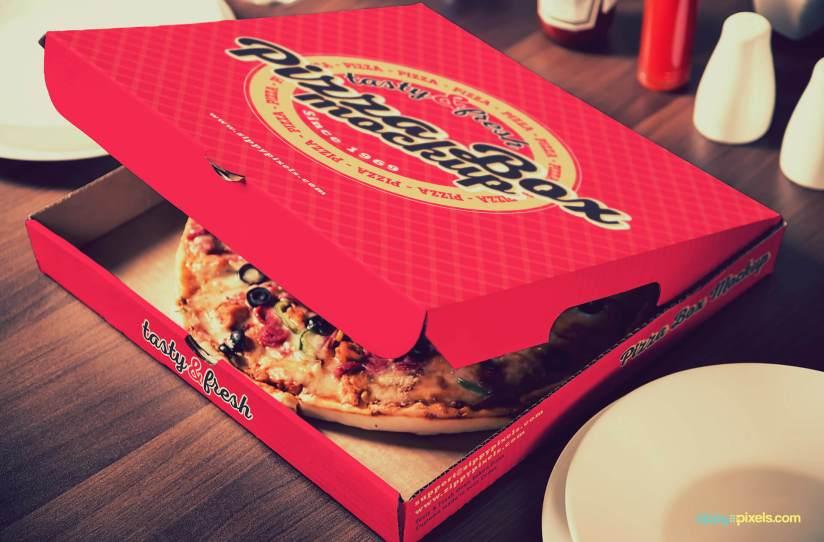 Download 15 Yummy Pizza Box Mockup PSDs | ZippyPixels