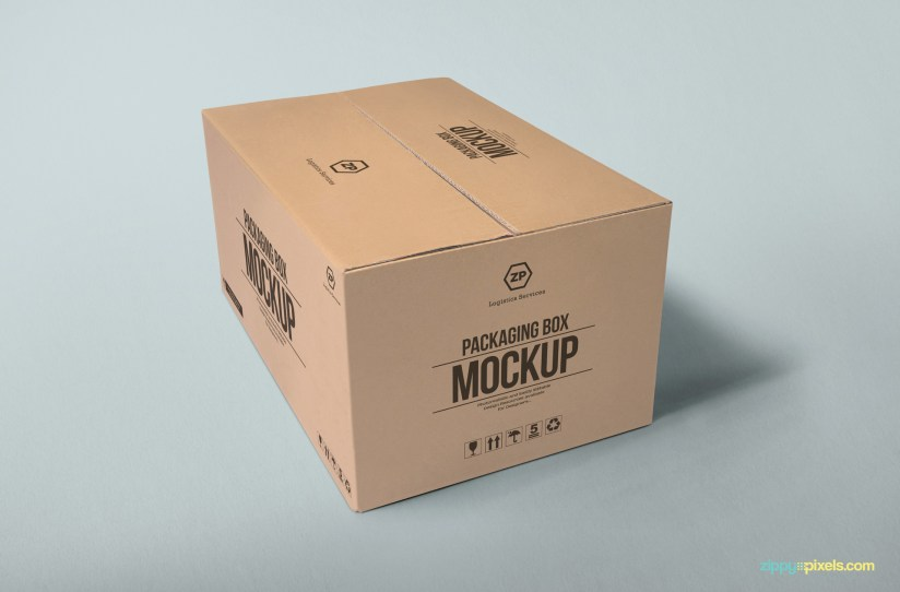 Download Packaging Box Mockup | Free PSD Download | ZippyPixels