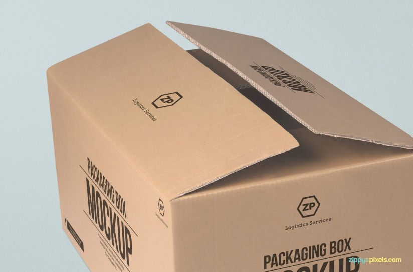 Download Packaging Box Mockup | Free PSD Download | ZippyPixels