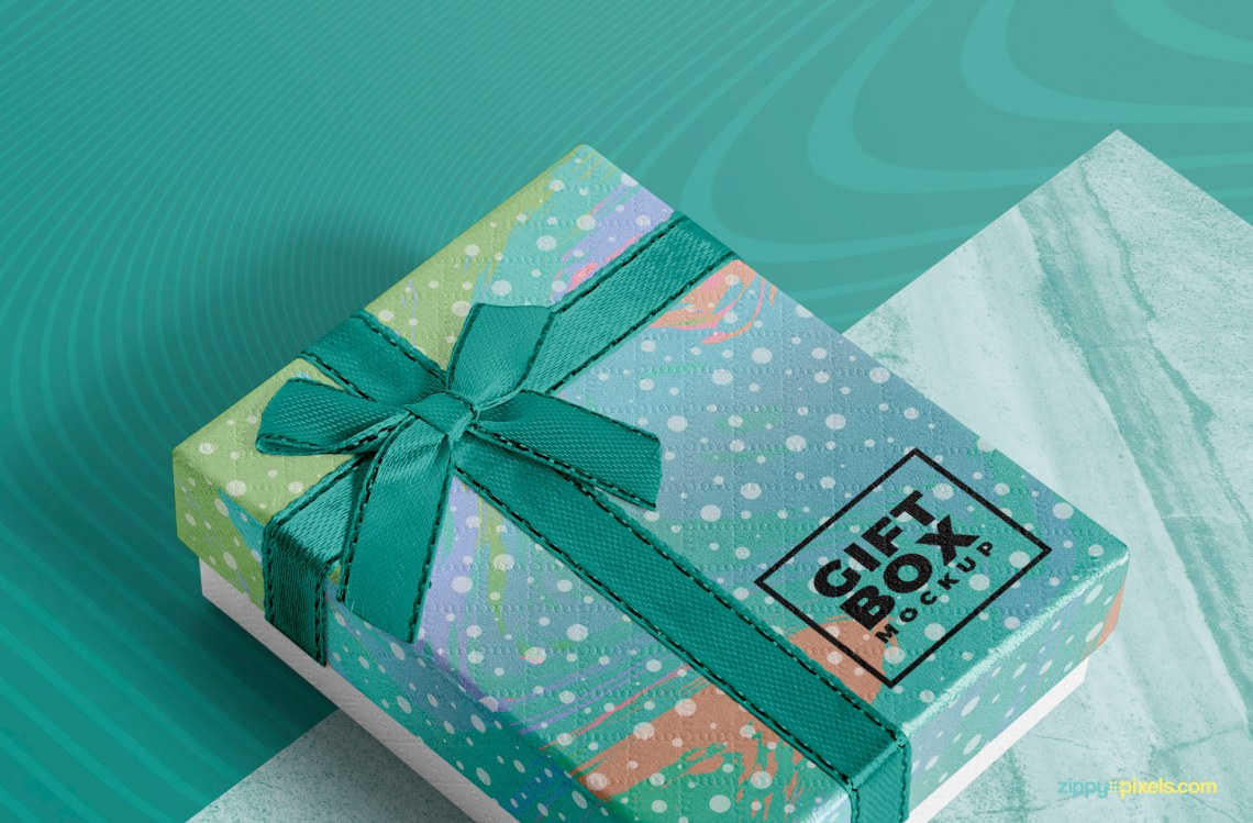 Download Photorealistic Gift Box Mockup Free | ZippyPixels