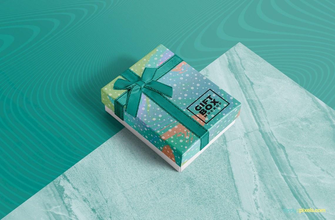 Download Photorealistic Gift Box Mockup Free | ZippyPixels