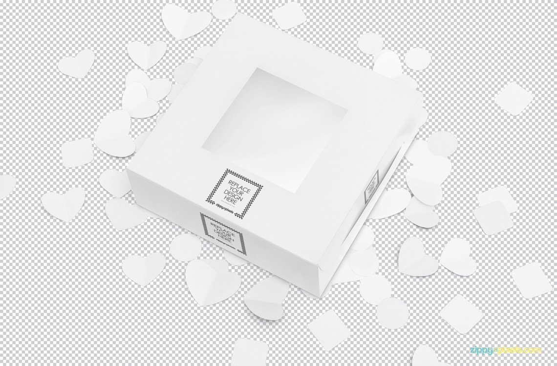 Download Free Lovely Cake Box Mockup | ZippyPixels